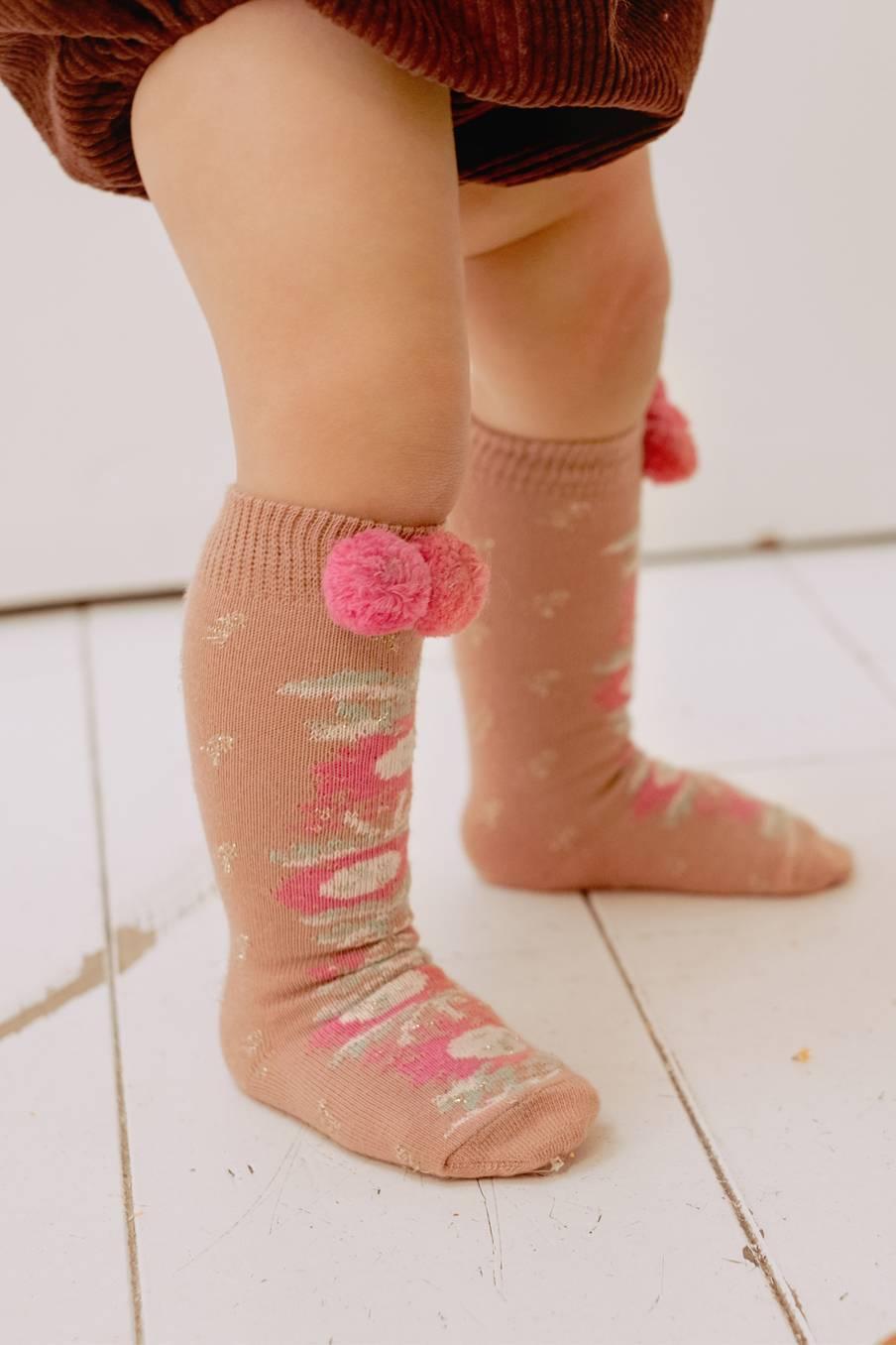 boheme chic vintage chaussettes bébé fille chavka sienna