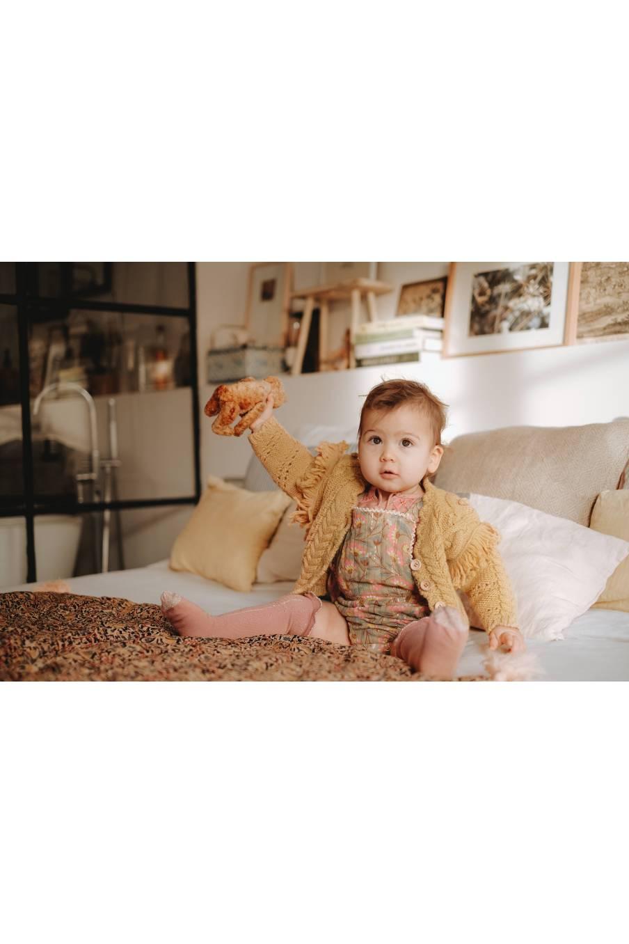 boheme chic vintage chaussettes bébé fille chatma sienna