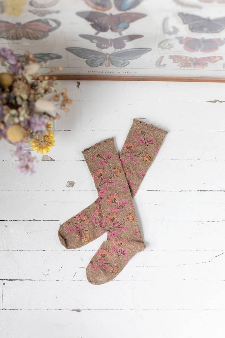 boheme chic vintage chaussettes bébé fille chihi beige