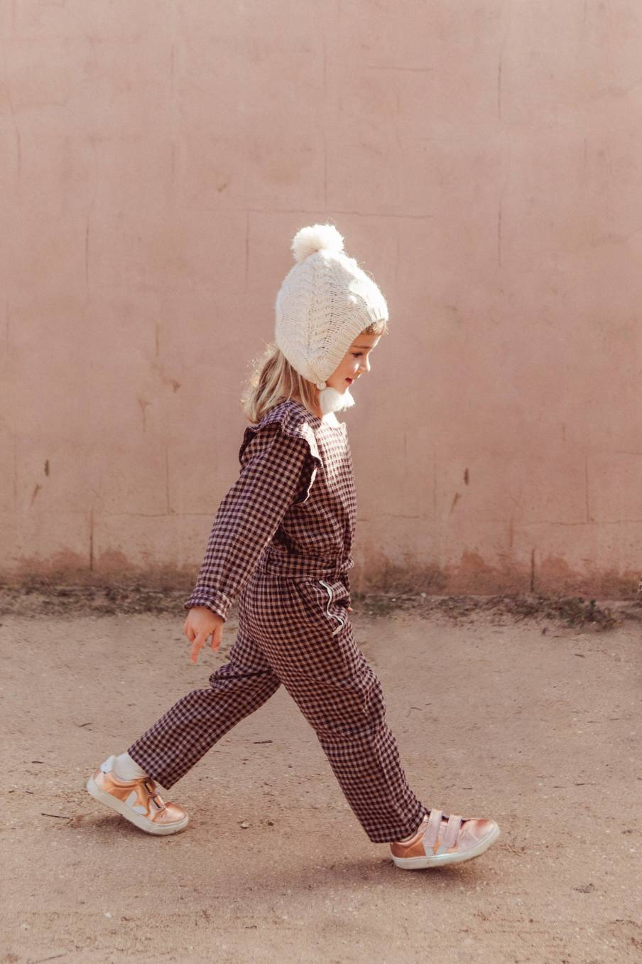 boheme chic vintage bonnet bébé fille lauria crème