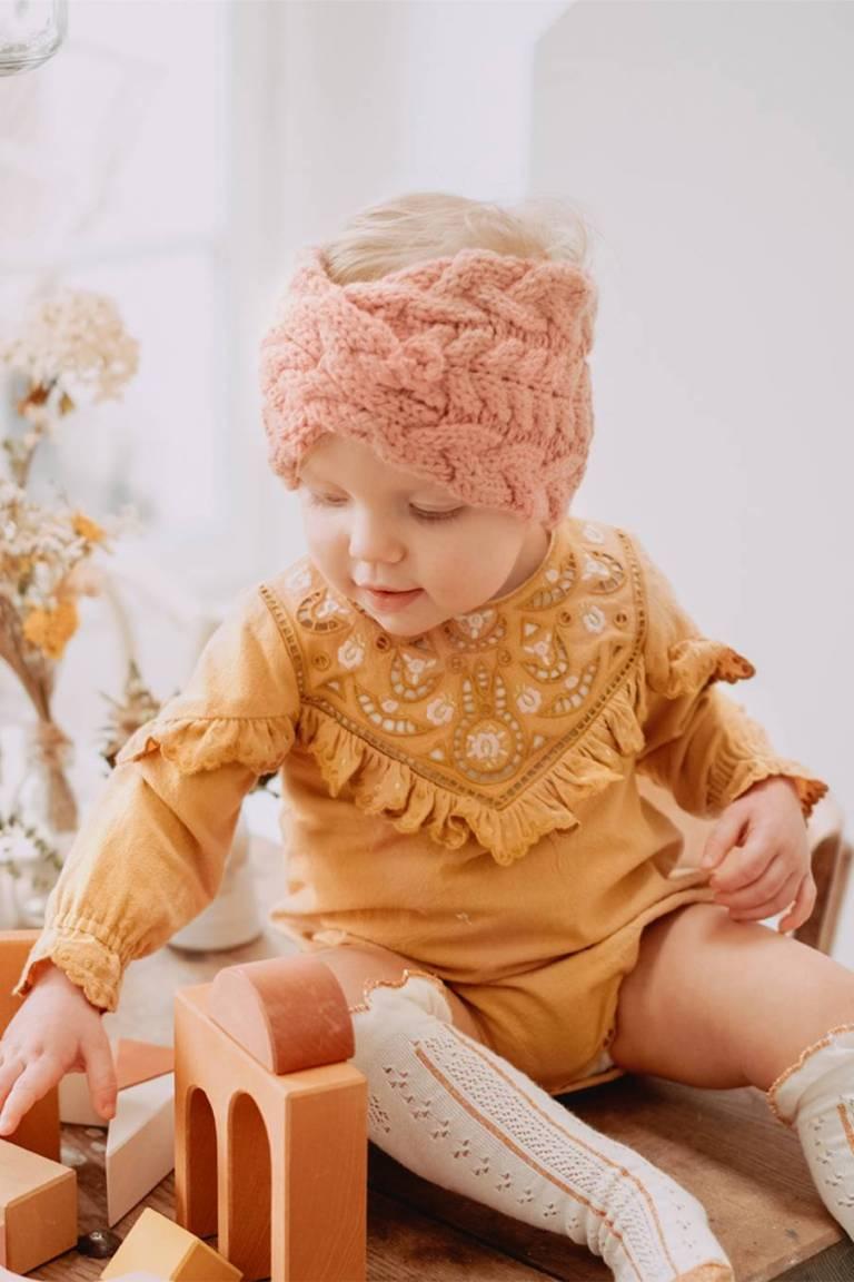 boheme chic vintage bandeau bébé fille paloma sienna