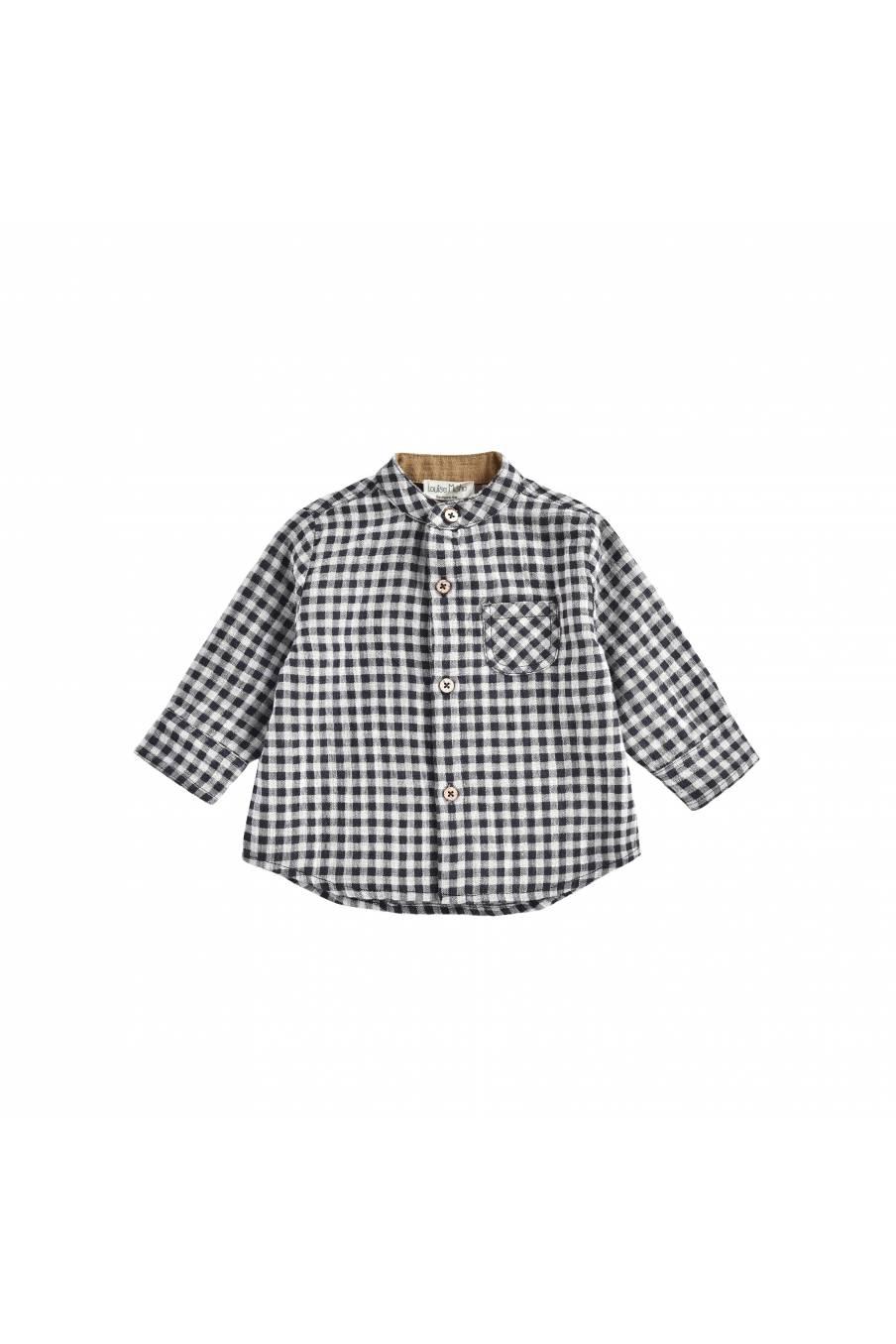 boheme chic vintage chemise bébé garcon akir black vichy