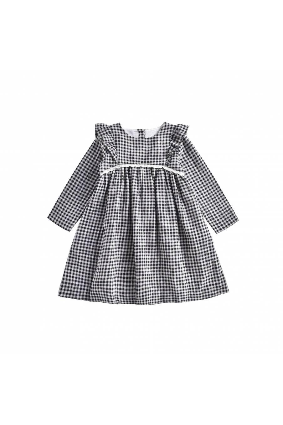 boheme chic vintage robe bébé fille alaka black vichy