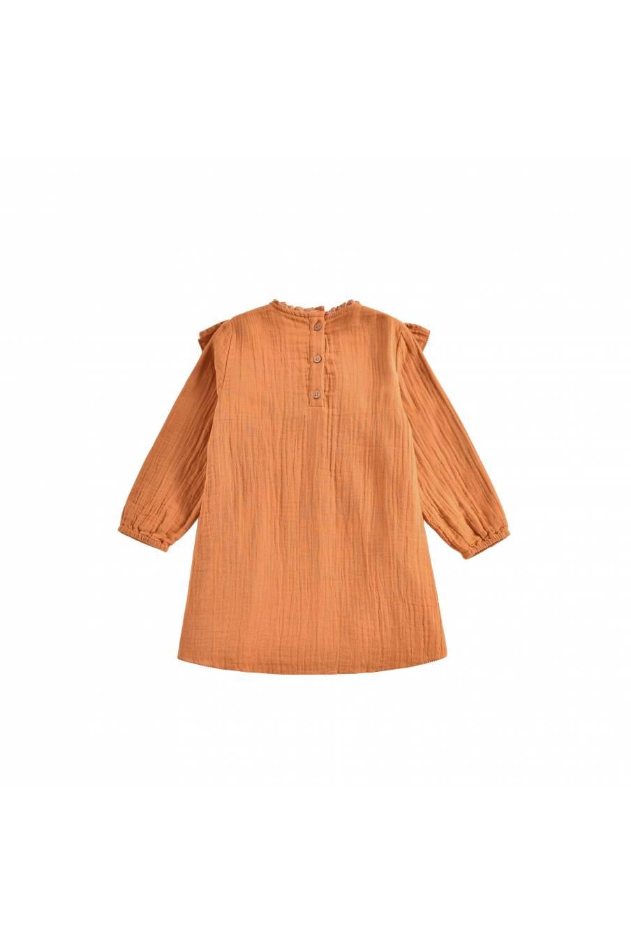 boheme chic vintage robe bébé fille akuti dark safran