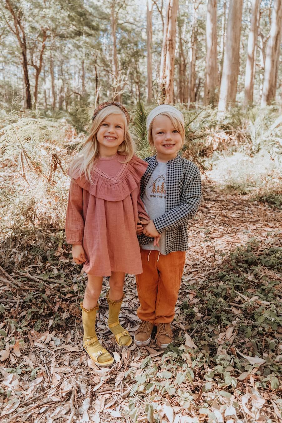 boheme chic vintage robe bébé fille akuti redwood