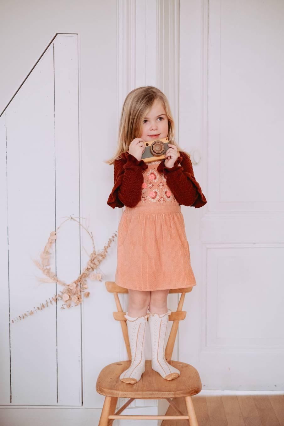 boheme chic vintage robe bébé fille liama sienna velvet