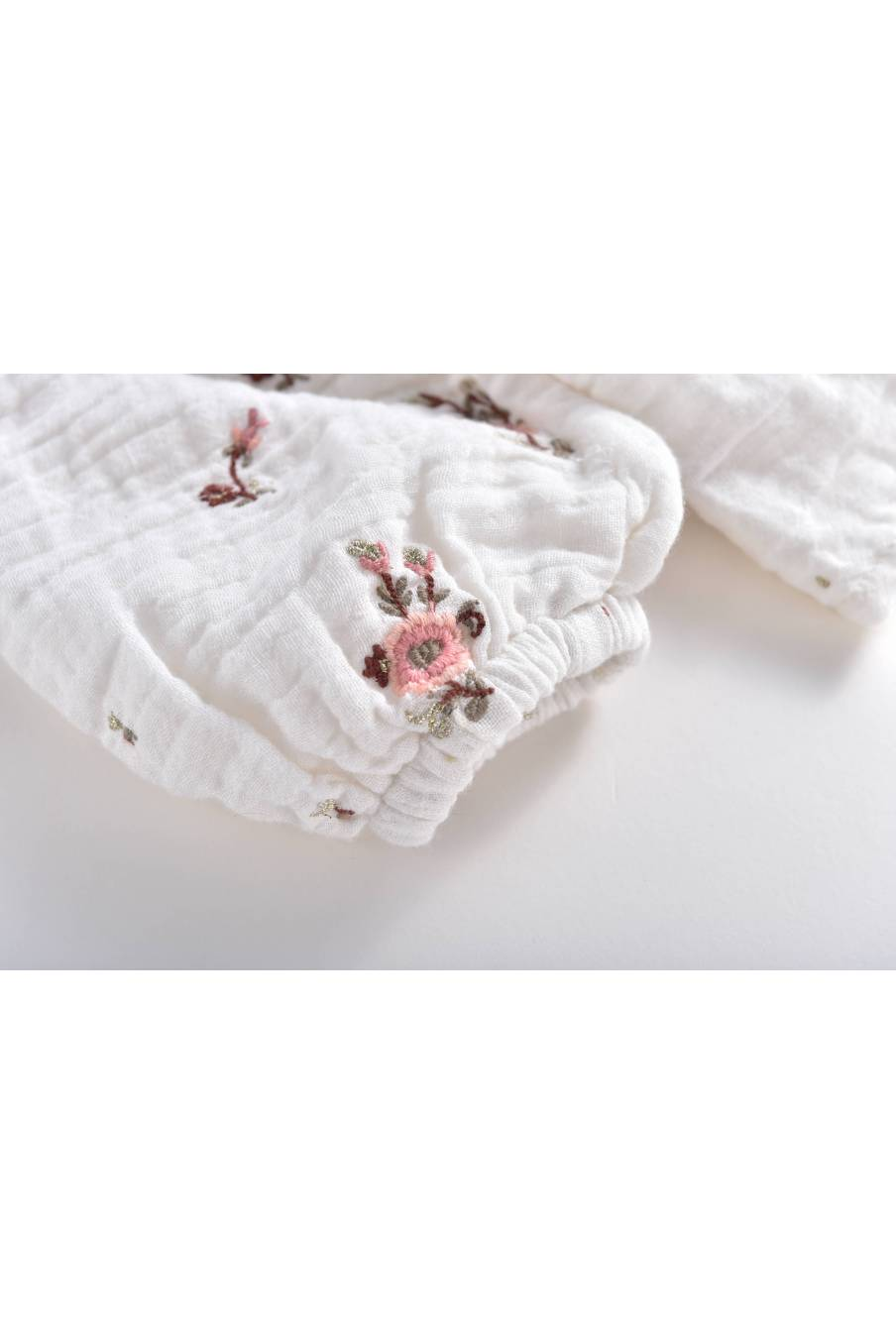boheme chic vintage blouse bébé fille sandrine off-white flowers