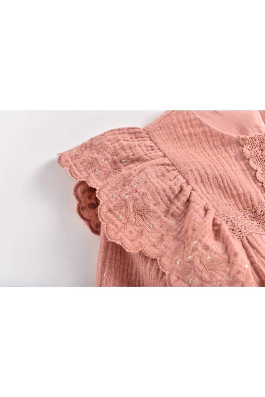 boheme chic vintage blouse bébé fille lisa sienna