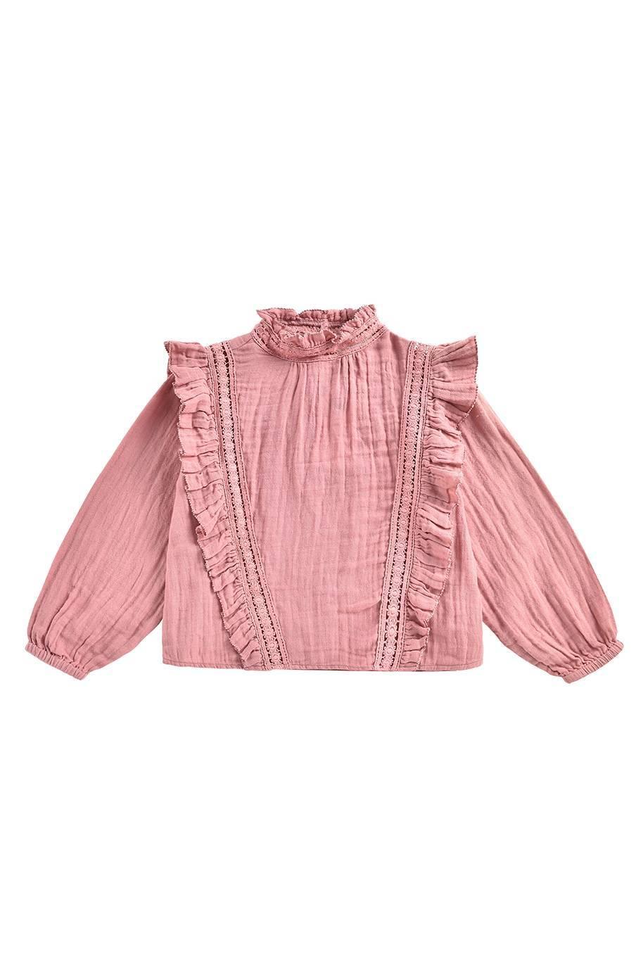 boheme chic vintage blouse bébé fille alsa redwood