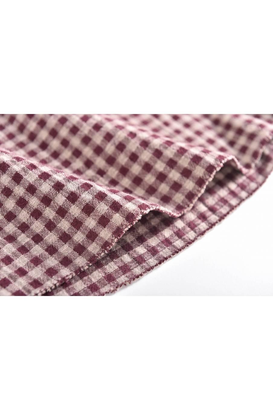 boheme chic vintage blouse bébé fille akalia aubergine vichy