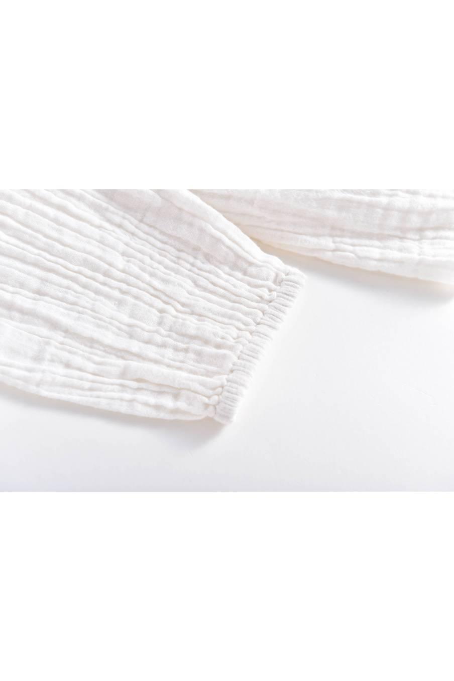 boheme chic vintage blouse bébé fille arilal blanc