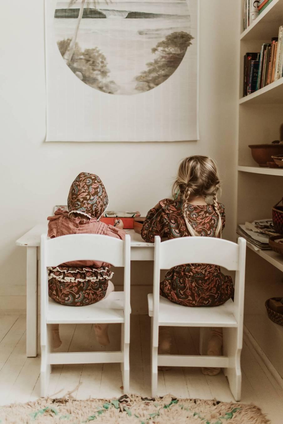 boheme chic vintage combinaison bébé fille alila bronze folk flowers