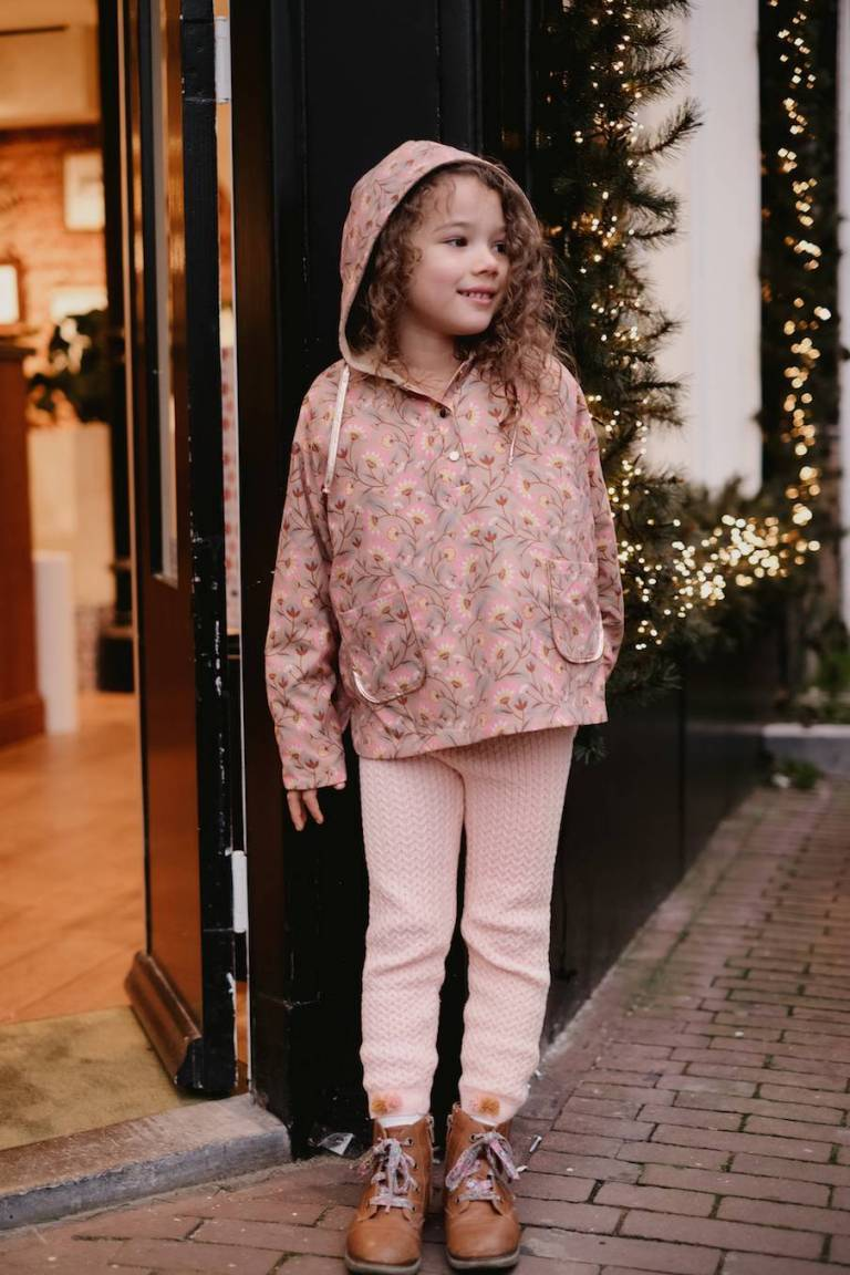 boheme chic vintage leggings bébé fille moldavia blush
