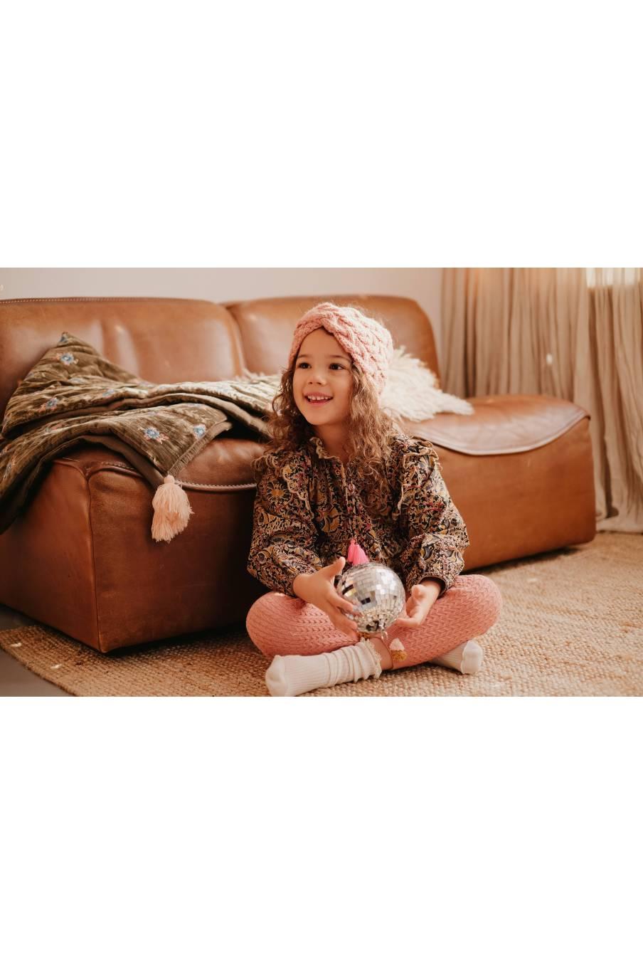 boheme chic vintage leggings bébé fille moldavia sienna