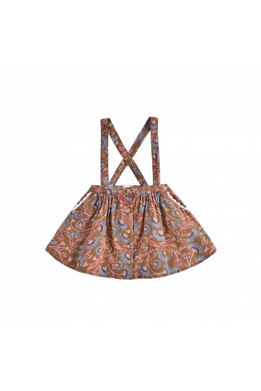 boheme chic vintage jupe bébé fille asanna bronze folk flowers