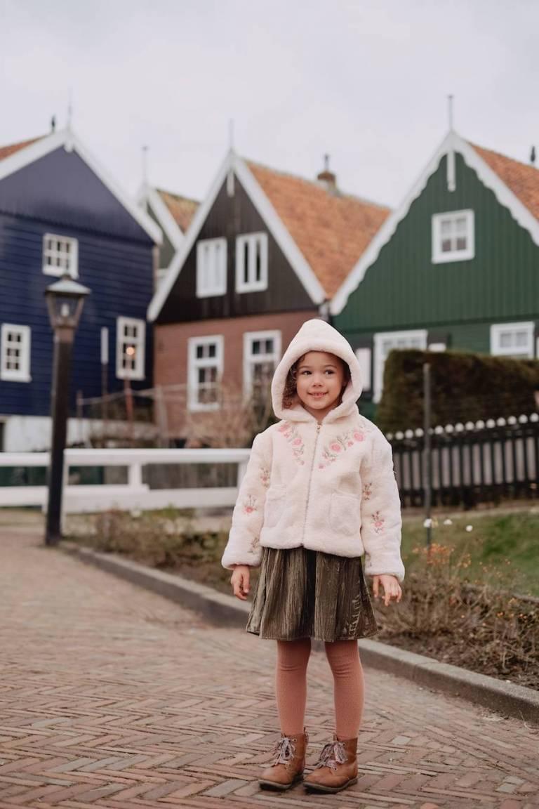 boheme chic vintage veste bébé fille jovica crème