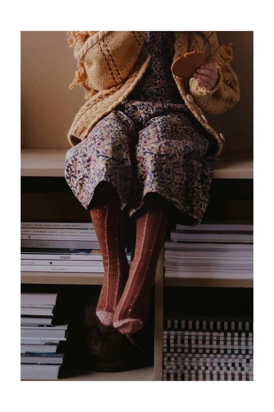 boheme chic vintage chaussettes bébé fille chatma chataigne