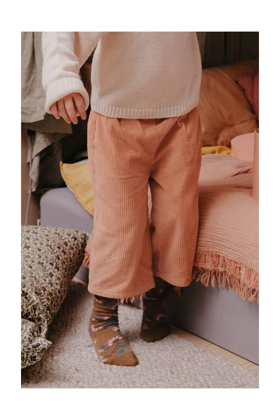 boheme chic vintage chaussettes bébé fille chihi bronze