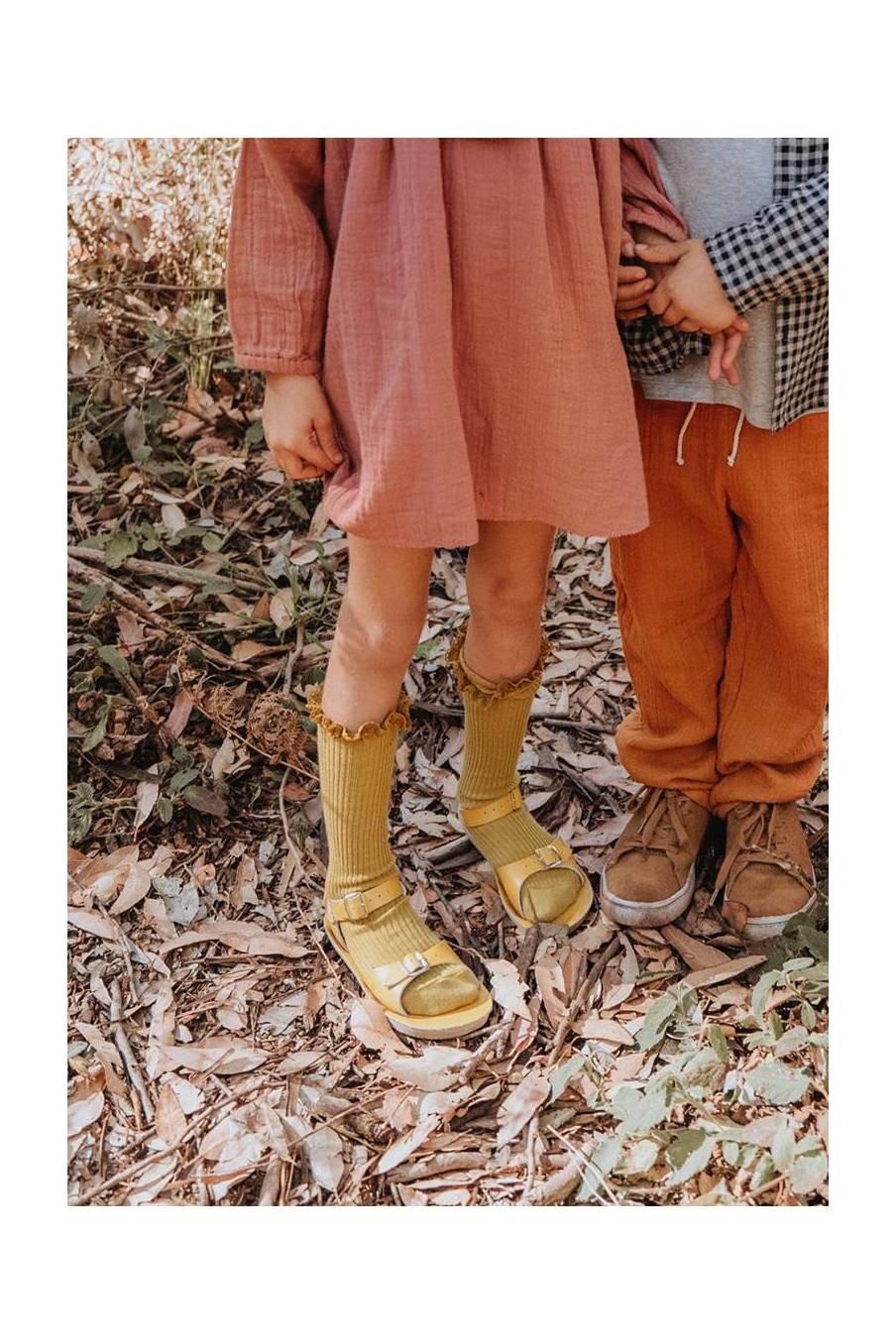 boheme chic vintage chaussettes bébé fille amira dark safran