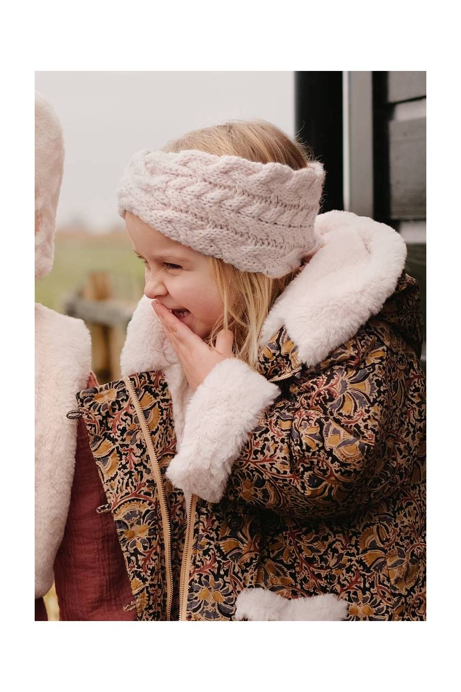 boheme chic vintage bandeau bébé fille paloma crème