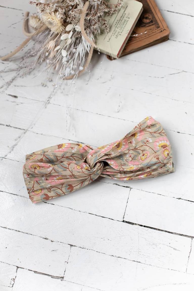 boheme chic vintage bandeau bébé fille daia khaki folk flowers
