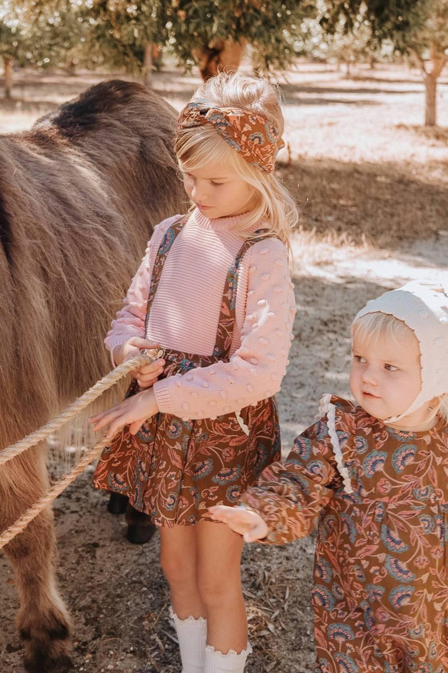 boheme chic vintage bandeau bébé fille ally bronze folk flowers