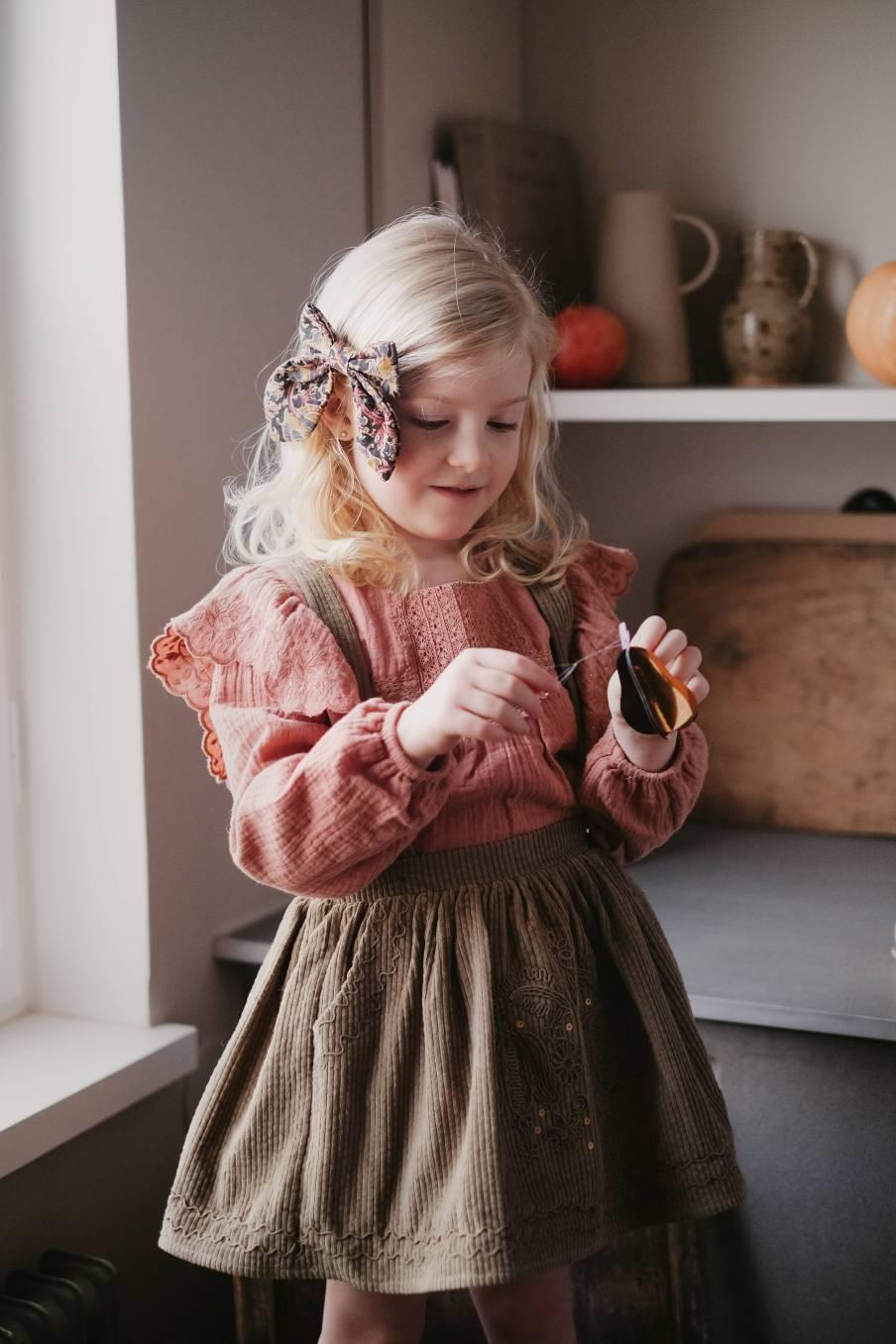 boheme chic vintage barrette fille gila nordish flowers