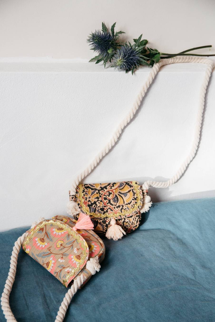 boheme chic vintage sac fille nelha khaki folk flowers