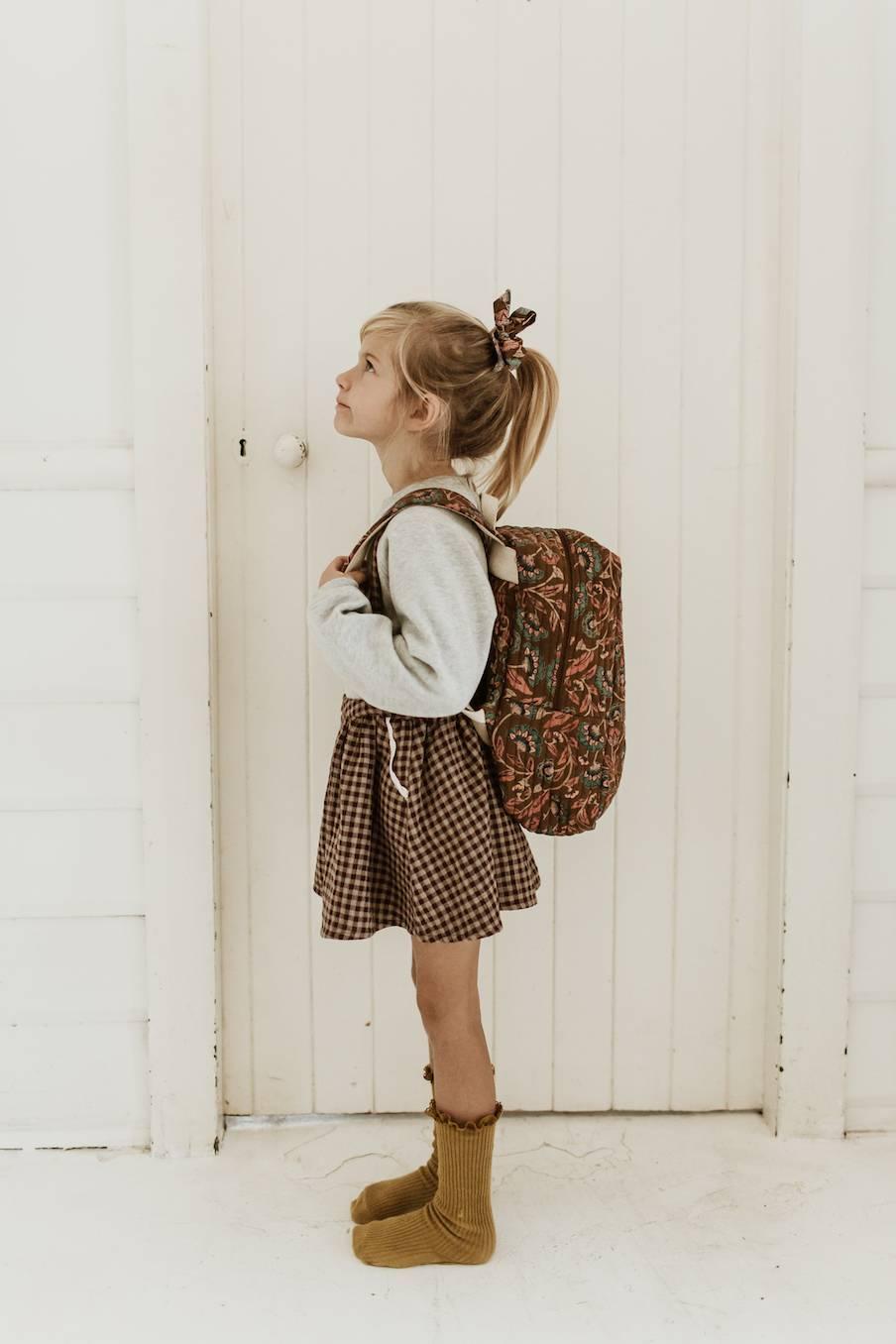 boheme chic vintage sac à dos fille arti bronze folk flowers