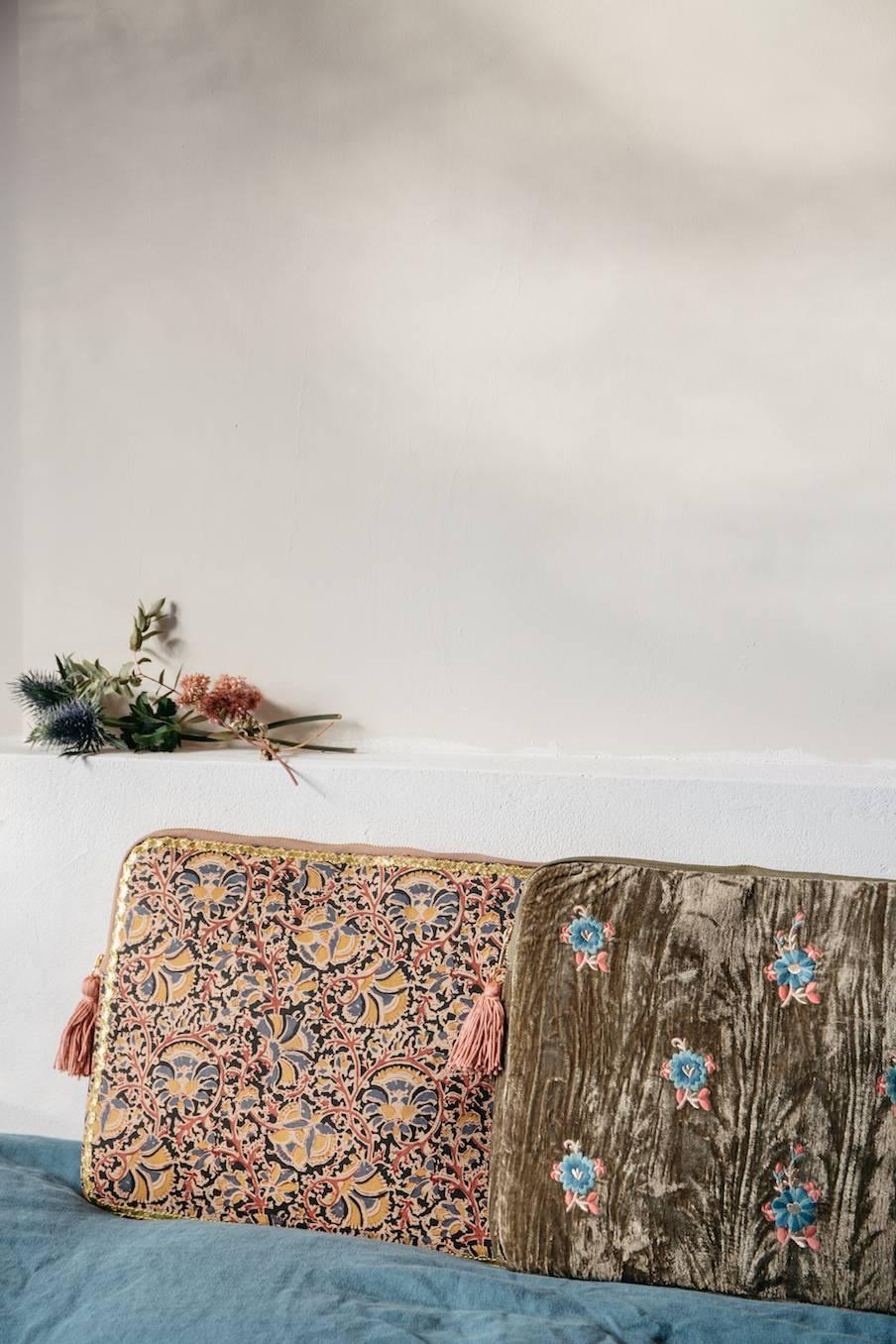 boheme chic vintage housse d'ordinateur femme hoa nordish flowers