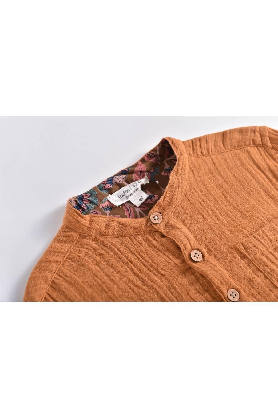 boheme chic vintage chemise bébé garcon aman dark safran