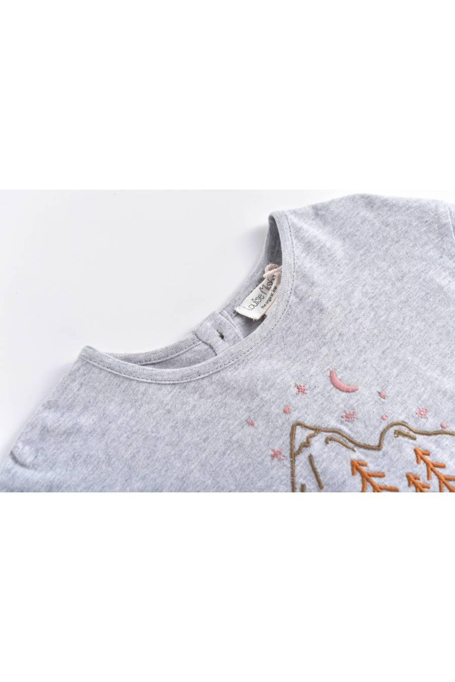 boheme chic vintage t-shirt bébé garcon abi gris