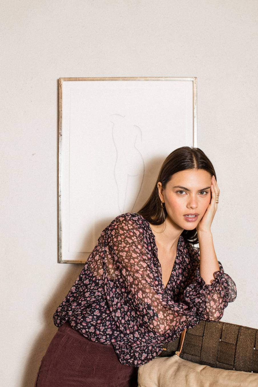 boheme chic vintage blouse femme lorine berry flowers