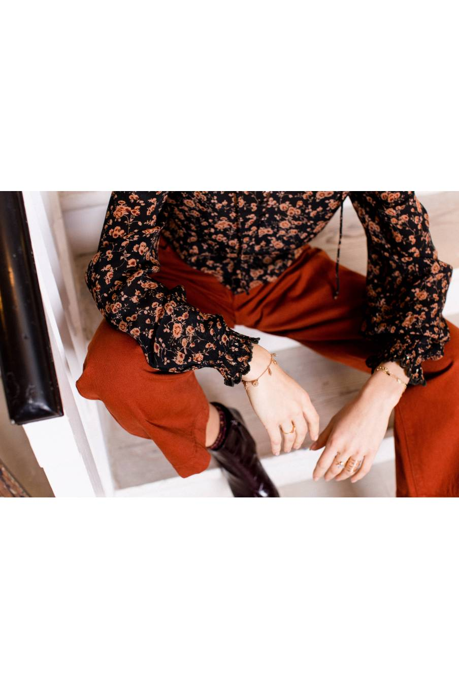 boheme chic vintage blouse femme melisse gipsy flowers