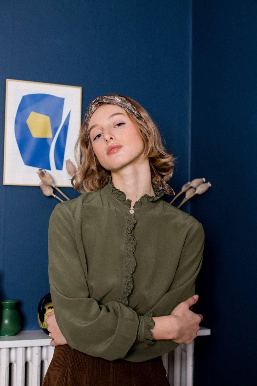 boheme chic vintage blouse femme edith olive