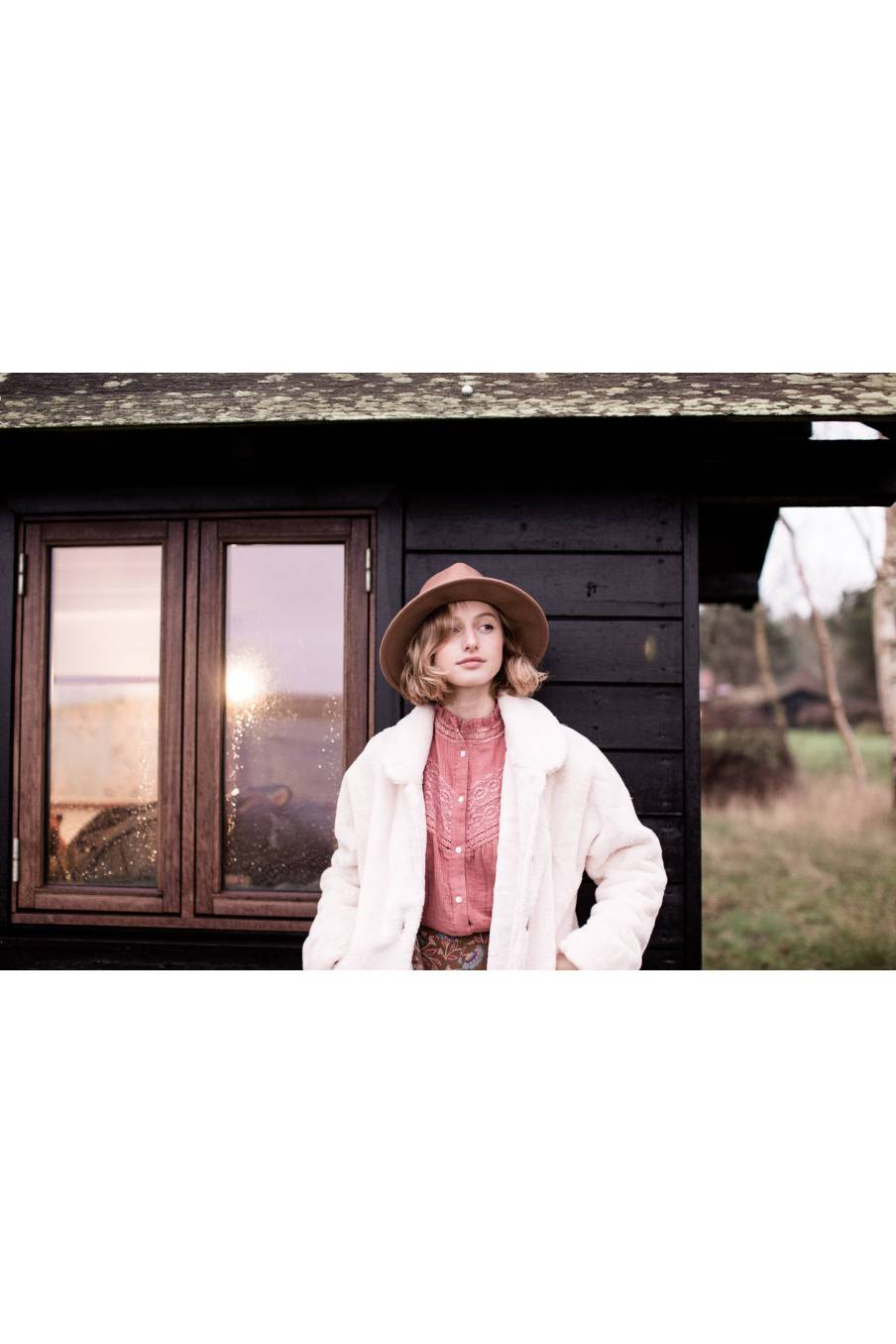 boheme chic vintage blouse femme adama redwood