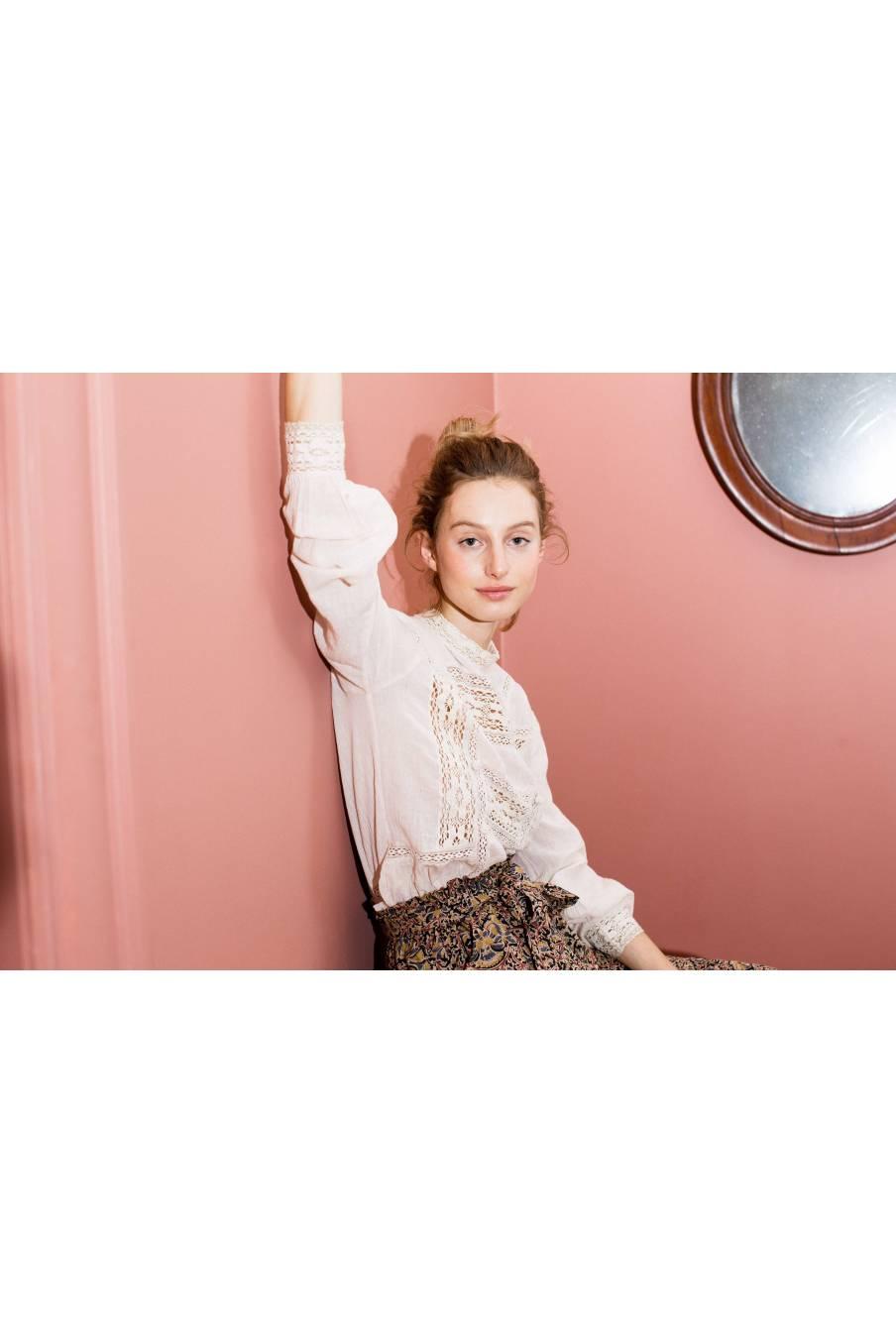 boheme chic vintage blouse femme tara blush