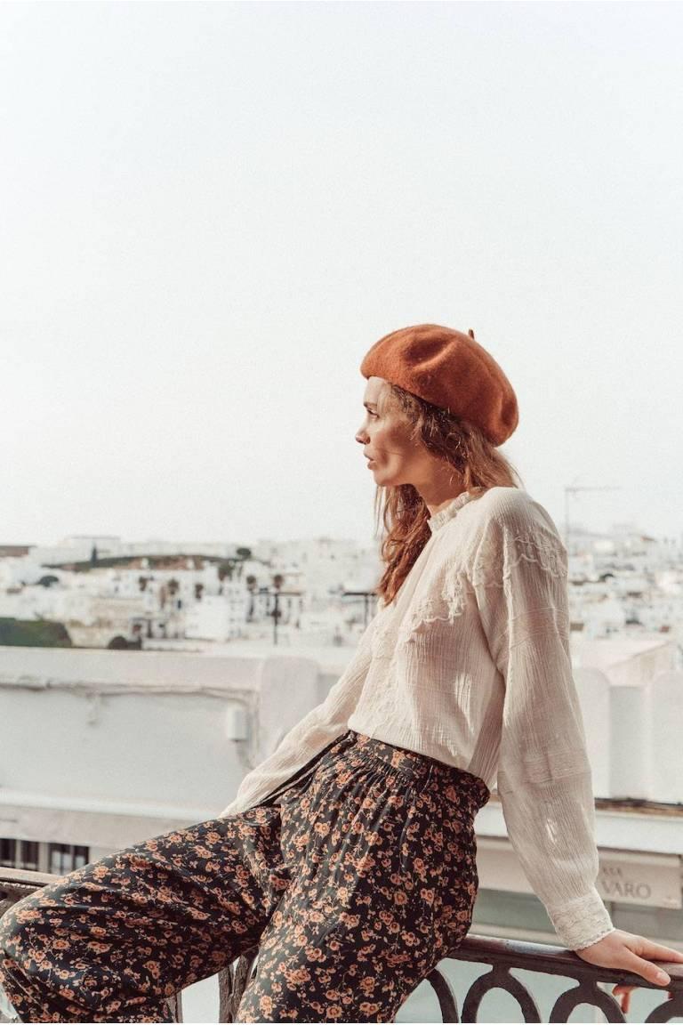 boheme chic vintage blouse femme melina off-white