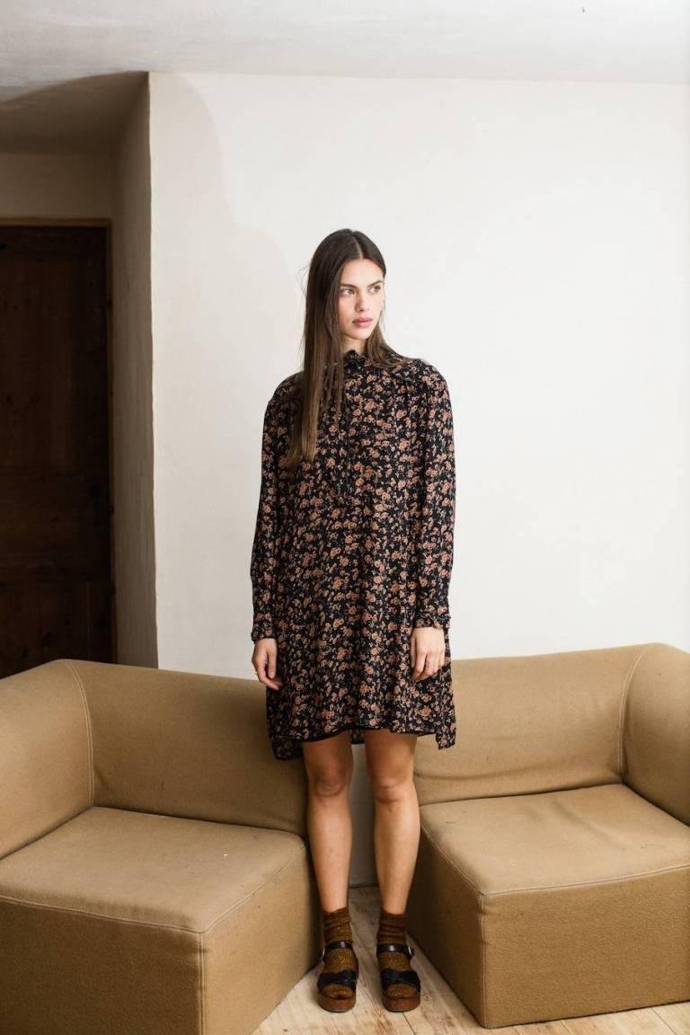 boheme chic vintage robe femme wara gipsy flowers