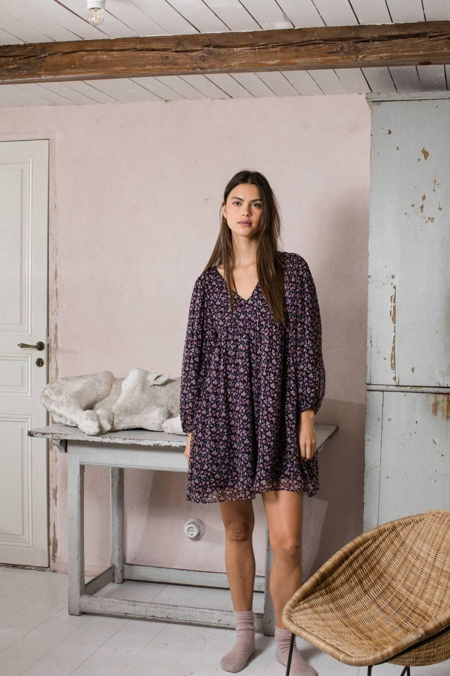boheme chic vintage robe femme otti berry flowers