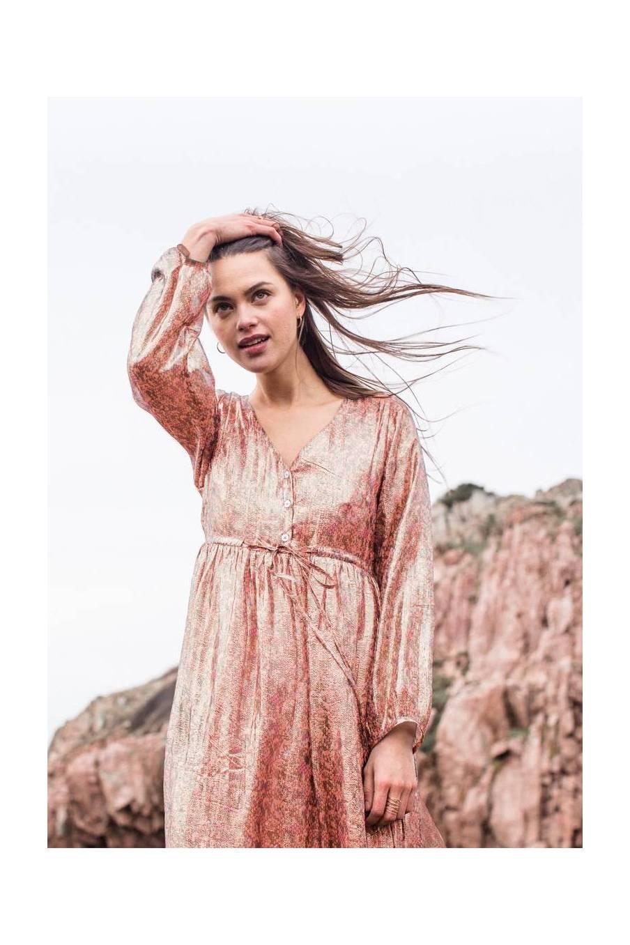 boheme chic vintage robe femme tyliaka sienna polka dots