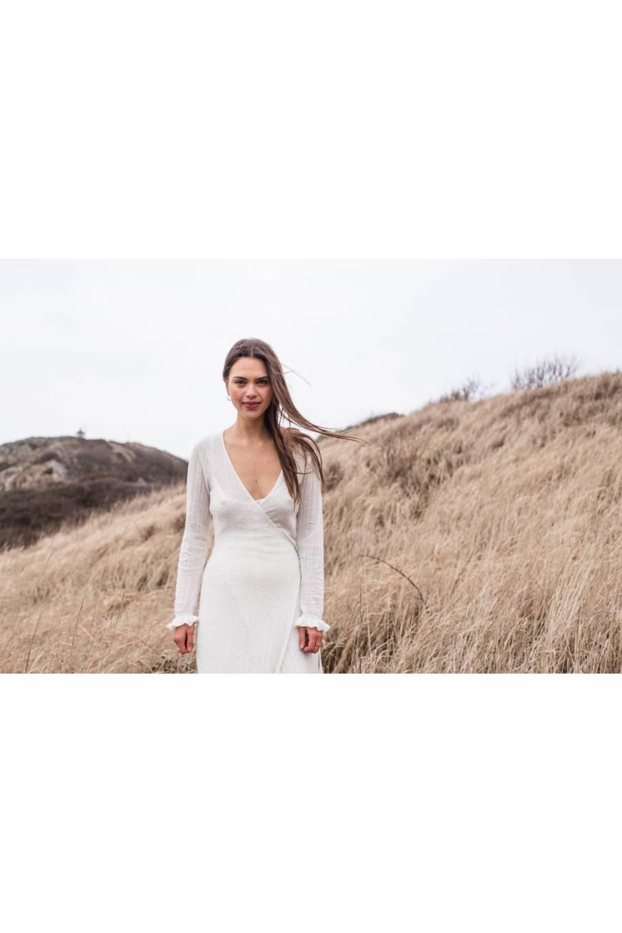 boheme chic vintage robe femme vesala blanc