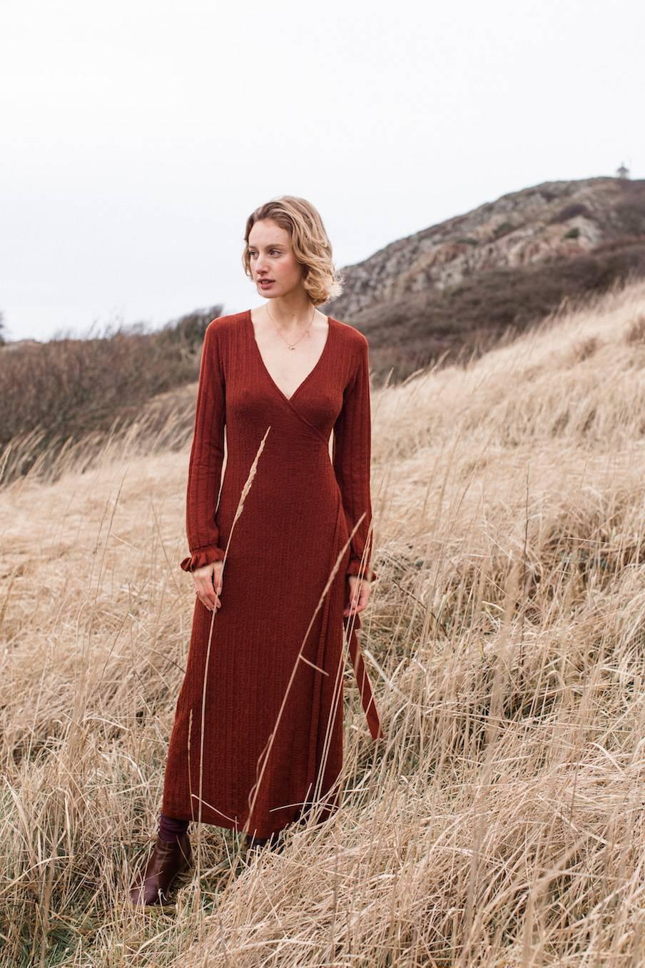 boheme chic vintage robe femme vesala chataigne