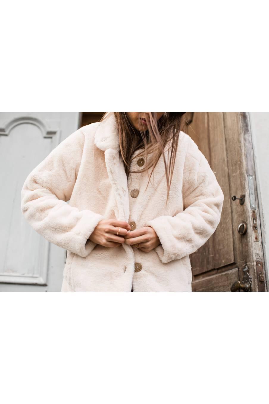 boheme chic vintage manteau femme gaia crème