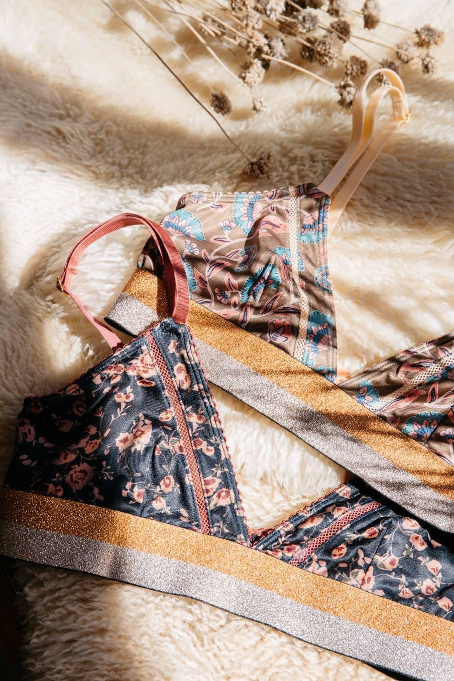 boheme chic vintage soutien-gorge femme shosha gipsy flowers