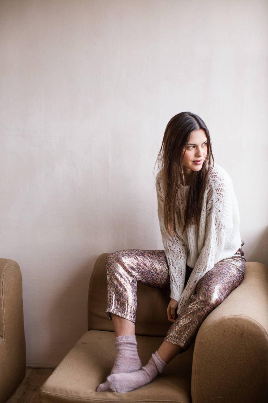 boheme chic vintage chaussettes femme piria blush