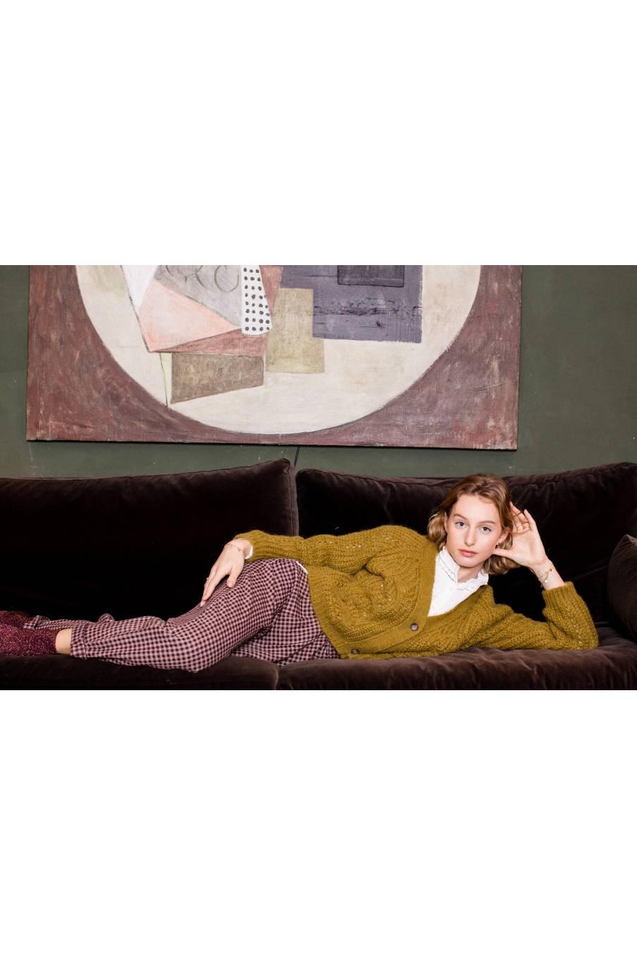 boheme chic vintage chaussettes femme louisette bronze