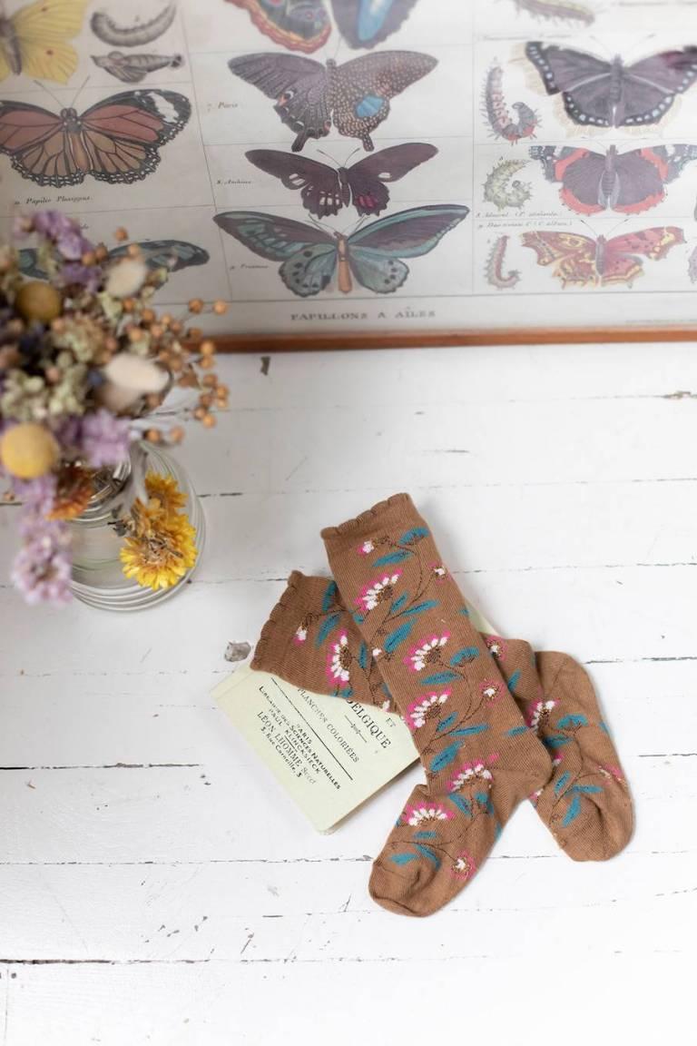 boheme chic vintage chaussettes femme chihi bronze