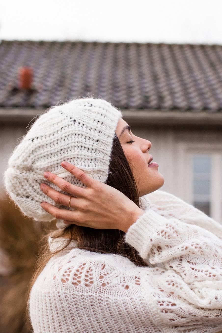 boheme chic vintage bonnet femme sandra blanc