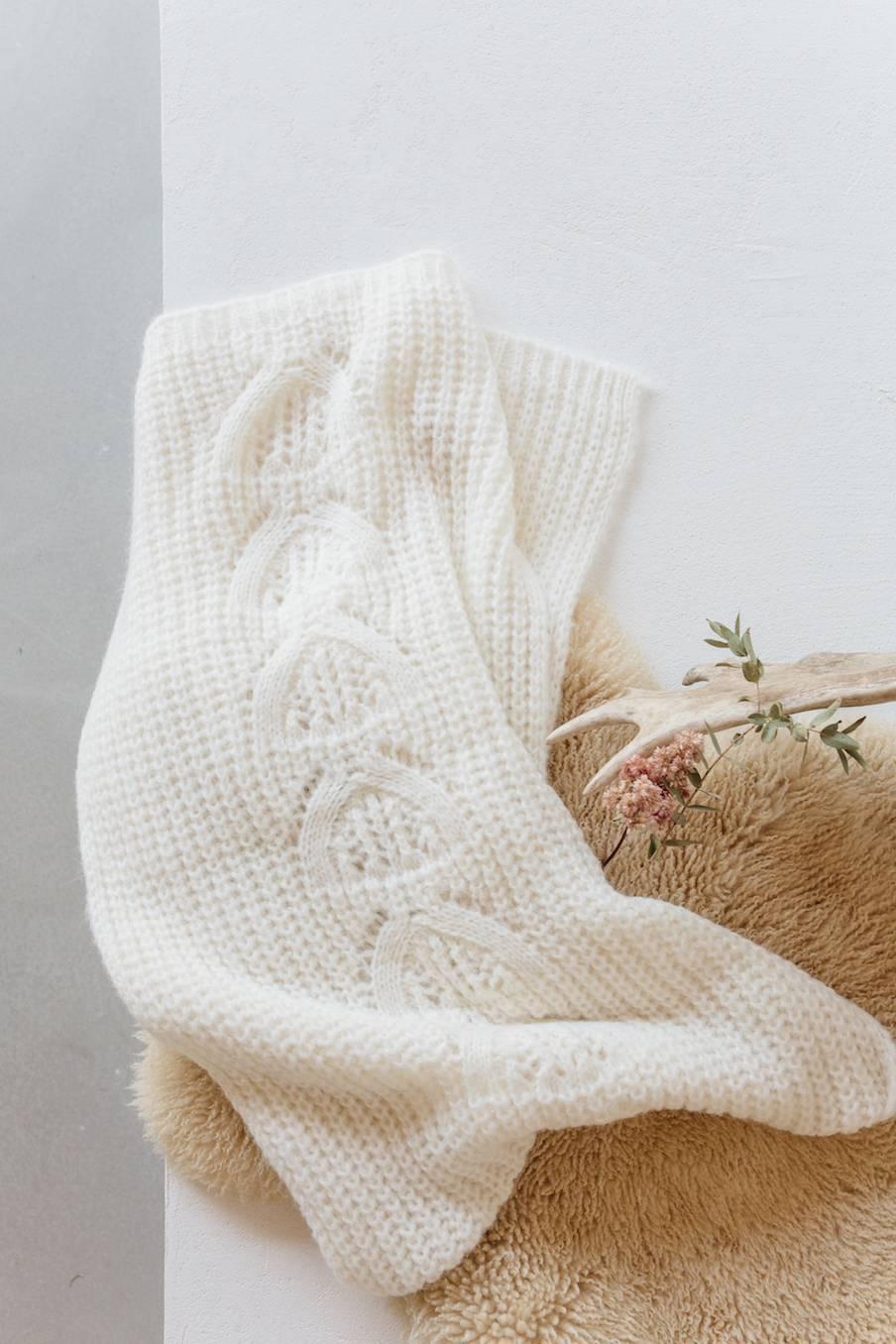boheme chic vintage echarpe femme gaella blanc
